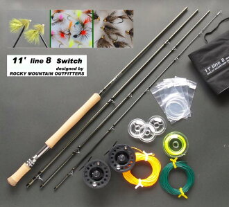RockyMountain Outfitters motion twin, #8/Switch, fly tackle set