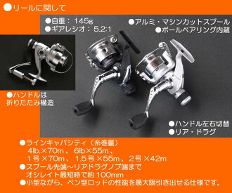 """""""Touch & Go"""" private spinning reel"""