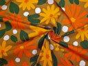 【送料無料】スイス製輸入生地 【MADAM GRES/マダムグレ】コットン5-32 140x120cm単位 花柄