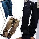 人気 カーゴ メンズ ミリタリー 着こなし 【C】 全3カラー 2way フロント釦 サロペット オーバーオール デニム パンツ 黒/緑 【福袋対象商品】【楽ギフ_包装】