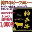 淡路島フルーツ玉ねぎと神戸ビーフ使用★神戸牛ビーフカレー3袋