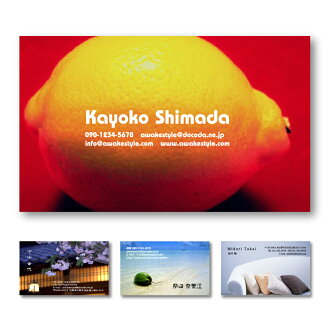 Photo business card creation printing photos placed in overall design