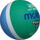 【モルテン molten】軽く当たっても衝撃が低いので、ボールを怖がらず楽しめます。 ライトドッジ SLD2MSK 緑×サックス[メール便不可]