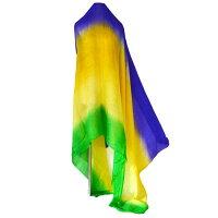 ベリーダンス ベール シルク 100%シルク(3色グラデーションパターンD)