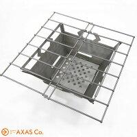 VARGO(バーゴ)ファイヤーボックスグリル(チタン)T433[アウトドア用ストーブ/グレー系/正規品]
