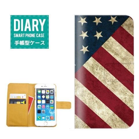 iPhone X ケース 手帳型 おしゃれ アメリカ America デザイン 国旗 自由の女神 Statue of Liberty NEW YORK ニューヨーク カラー レッド ブルー ホワイト