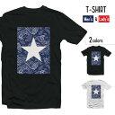 ショッピングワンスター Tシャツ メンズ 半袖 レディース 半袖 おしゃれ ブラック ホワイト 星 星柄 スター ワンスター STAR かわいい シンプル 派手 白星 ブルー 青