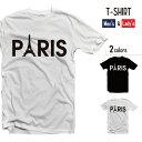 Tシャツ メンズ 半袖 レディース 半袖 おしゃれ ブラック ホワイト PARIS パリ フランス エッフェル塔ファッション かわいい