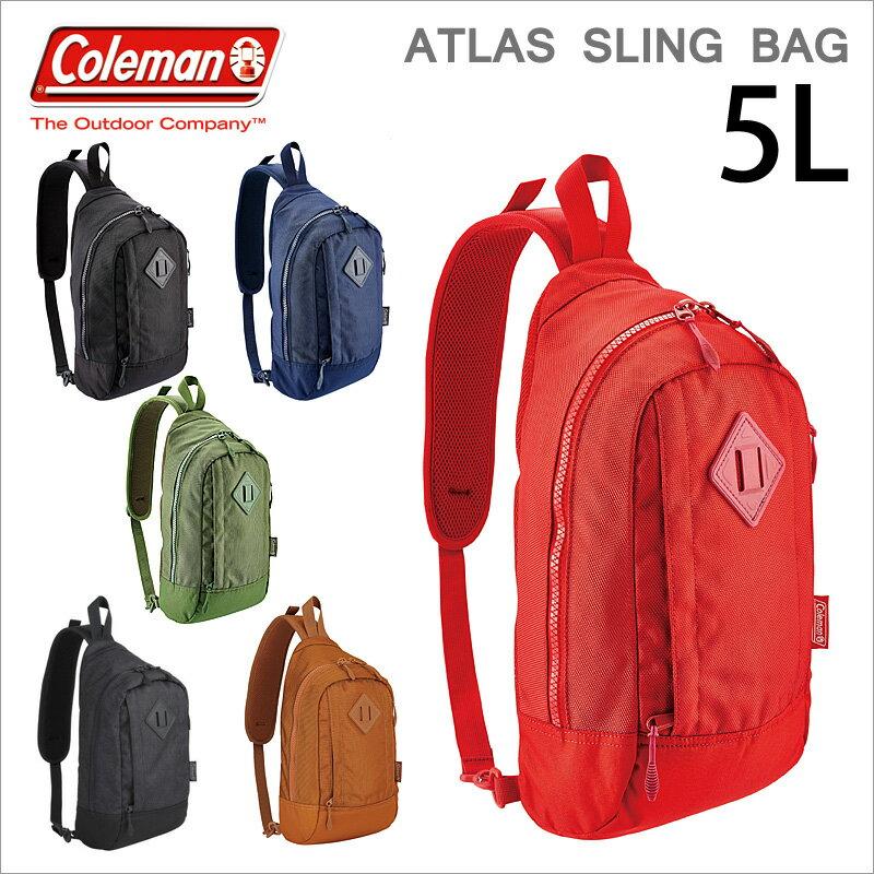 ボディバッグ ワンショルダーバッグ ATLAS コールマン Coleman アトラス スリングバッグ SLING BAG COLORS カラーズ