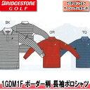 【●16春夏】【65%OFF】ブリヂストン ゴルフ 1GDM1F ボーダー柄 長袖ポロシャツ(メンズ)