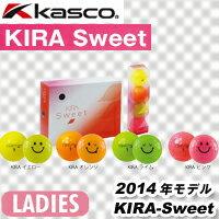 【14年】Kasco(キャスコ) KIRA-Sweet レディース ゴルフボール 1ダース(12球入り)