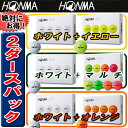 【SALE】◆2ダース(白×カラー)◆【18年】ホンマ(本間ゴルフ)HONMA D1 2ピースゴルフボール【日本仕様】2ダース(24球入り)【10885】