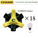 CHAMP(チャンプ) SCORPION Stinger Q-LOK SYSTEM 18pcs #75630(換えスパイク鋲×18個)USモデル【07439】