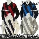 【16秋冬】Titleist(タイトリスト)TWMK1654 バイヤスチェック柄 Vネックニット
