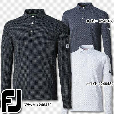 【16秋冬】【50%OFF】FOOTJOY(フットジョイ)FJ-F16-S60 Xプリントジャージーシャツ 長袖ポロシャツ