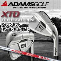 【14年】【70%OFF】ADAMS GOLF(アダムスゴルフ)【日本正規品】XTD FORGED(XTD フォージド)アイアン(#5-9,PW/6本組) N.S.PRO MODUS3 TOUR 120スチールシャフト
