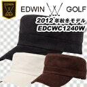 【12秋冬】【60%OFF】EDWIN GOLFコーデュロイ ワークキャップ EDCWC1240W