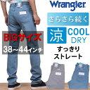 【国内送料無料】38〜44インチ 涼しい夏のジーンズ/Wranglerのクール&ドライ/すっきりストレート!Wrangler/ラングラーWM0135_856_802 アクス三信/AXS SANSHIN/サンシン