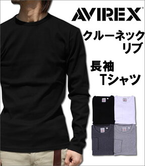 Crew neck long sleeve T shirt AVIREX / avirex / 617395 fs3gm