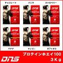 DNS プロテインホエイ100 【3kg】 送料無料 あす楽対応 プロテイン ホエイ 3000g サプリ サ