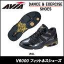 【AVIA】V6000-BGL フィットネスシューズ あす楽対応 送料無料 アビア アヴィア ダンスシューズ レディス レディース レディ ブラック 黒 ゴールド 金 AVIA シューズ エクササイズシューズ ダンスシューズ スタジオ スタジオシューズ v6000