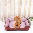 ショッピングソファベッド 猫 ベッド 犬 ベッド ペットベッド チェック柄 角型 クッションベット サイズ50*40*14cm 四季通用 ソファベッド