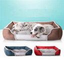 ショッピングソファーベッド 犬のベッド 猫ベッド ペットベッド 角型 クッションベット 四季通用 ソファ ベッド サイズL 全4色 取り外し可能 防寒保温 ふんわり 多頭飼い