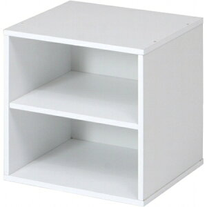 キューブボックス棚付ホワイトCB35SHWH