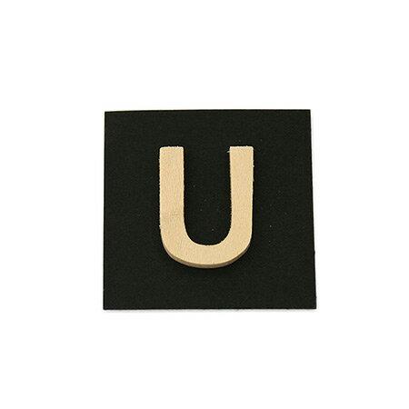 シナベニア製抜き文字 U シナベニア製抜き文字 PSB25-U