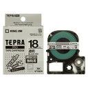 キングテプラテープ テプラ・SRシリーズ専用テープカートリッジ 18mm 透明ラベル黒文字  ST18KW【RCP】
