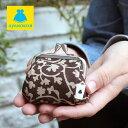 【在庫商品】TAWARA型がま口コスメポーチ(極小)【帆布・蛸唐草】