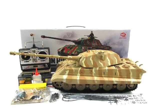 "HengLong 1/16ケーニヒス・ティーガー(金属ブラックキャタピラ・BB・サウンド・発煙仕様)German Pz.Kpfw VI ""TigerII"" AusfB"