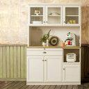 【本州、四国は開梱設置無料】 クリチコ 食器棚 カントリー調 クリチコ食器棚