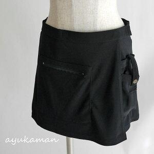 ポケット ミニスカート オーバー スカート ストレッチ エプロン