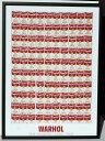 ポップアート 名画 アンディ ウォーホル 100個のスープ缶(1962)/額入り 絵画 絵 壁掛け アート リビング 玄関 トイレ インテリア かわいい 壁飾り 癒やし プレゼント ギフト アートパネル ポスター アートフレーム おしゃれ 飾る 5Lサイズ