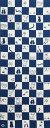 【絵てぬぐい 絵画】ネコ市松(青)【メール便】/手ぬぐい 手拭い タオル 歌舞伎 インテリア はんかち 伝統工芸 おしゃれ 高級 外国人 ..