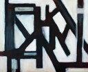 ショッピングLIVE 【アートパネル】Clivewa とある抽象画/インテリア 壁掛け 額入り 油絵 ポスター アート アートパネル リビング 玄関 プレゼント モダン アートフレーム おしゃれ【L】