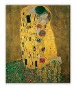 名画キャンバスアート グスタフ・クリムト 接吻 (Gustav Klimt)/額入り 額装込 風景画 絵画 絵 壁掛け アート リビング 玄関 トイレ インテリア かわいい 壁飾り 癒やし プレゼント ギフト アートパネル ポスター アートフレーム おしゃれ Sサイズ 巣ごもり