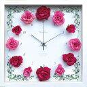 時計 ゆうパケット Flower Clock Rose / Wine Pink/掛け時計 置き時計 ウォールクロック インテリア 壁掛け 時刻 ギフト プレゼント 新築祝い おしゃれ かわいい アート Sサイズ