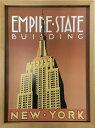 ショッピングjam 【アートフレーム】Brian James Empire State Building/インテリア 壁掛け 額入り 油絵 ポスター アート アートパネル リビング 玄関 プレゼント モダン アートフレーム おしゃれ【L】