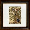 名画アートフレーム ゆうパケット クリムト 抱擁(Klimt )/額入り 絵画 絵 壁掛け アート リビング 玄関 トイレ インテリア かわいい 壁飾り 癒やし プレゼント ギフト アートパネル ポスター アートフレーム おしゃれ Sサイズ