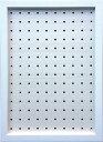 樂天商城 - 壁掛けボードフレーム ペグボード パンチングボード 有孔ボード ホワイト A3/インテリア 壁掛け 額入り 油絵 ポスター アート アートパネル リビング 玄関 プレゼント モダン アートフレーム おしゃれ Mサイズ