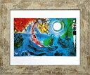 名画アートフレーム コンサート マルク・シャガール(Marc Chagall)/額入り 絵画 絵 壁掛け アート リビング 玄関 トイレ インテリア かわいい 壁飾り 癒やし プレゼント ギフト アートパネル ポスター アートフレーム おしゃれ LLサイズ