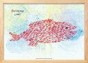 アートフレーム レオ・レオニ スイミー ジャイアントフィッシュ (Leo Lionni Swimmy-Giant Fish)/額入り 絵画 絵 壁掛け アート リビング 玄関 トイレ インテリア かわいい 壁飾り 癒やし プレゼント ギフト アートパネル ポスター アートフレーム おしゃれ Mサイズ 巣ごもり