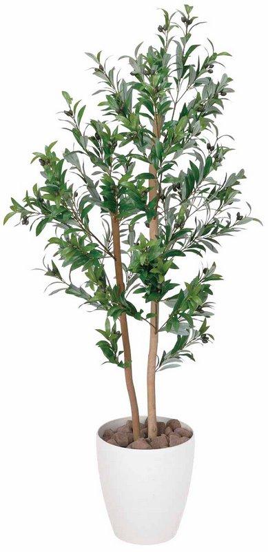 【光触媒観葉植物】オリーブ1.2〔フロアタイプ(ミドルサイズ)〕/光触媒 観葉植物 ウンベラータ フェイクグリーン 花 胡蝶蘭 開店祝い 開業祝い 誕生祝い 造花 アートフレーム おしゃれ 5Lサイズ