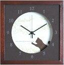 ショッピング掛け時計 【時計】Verdure Cat/BR/掛け時計 置き時計 ウォールクロック インテリア 壁掛け 時刻 ギフト プレゼント 新築祝い おしゃれ かわいい アート【M】