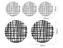 ショッピングサークル 【ウォールステッカー】Modern Circle Black/Gray/インテリア 壁掛け 額入り 油絵 ポスター アート アートパネル リビング 玄関 プレゼント モダン アートフレーム おしゃれ【M】