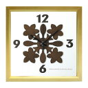 ショッピングANA 【時計】HawaiianQuilt Clock Plumeria NA/掛け時計 置き時計 ウォールクロック インテリア 壁掛け 時刻 ギフト プレゼント 新築祝い おしゃれ かわいい アート【M】