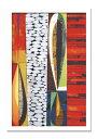 絵画・抽象画 Rex Ray レックス レイ Paso-doble(パソドブレ)/インテリア 壁掛け 額入り 額装込 風景画 油絵 ポスター アート アートパネル リビング 玄関 プレゼント モダン アートフレーム おしゃれ 飾る 5Lサイズ