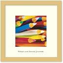 アートフレーム ゆうパケット FRED フレッド Pencils(ペンシル/鉛筆)/インテリア 壁掛け 額入り 額装込 風景画 油絵 ポスター アート アートパネル リビング 玄関 プレゼント モダン アートフレーム おしゃれ 飾る Sサイズ